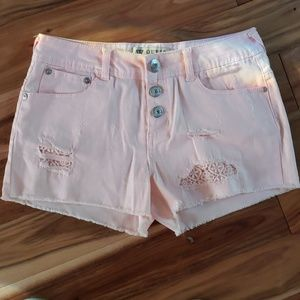 Girls New guess shorts - color light peach